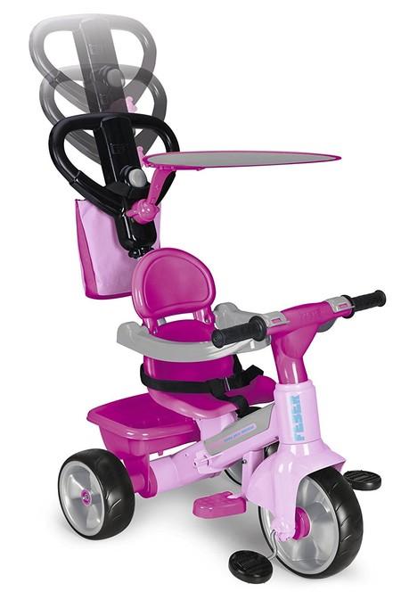 Completísimo triciclo Feber  Tryke Baby Plus Music Pink por 56,24 euros en Amazon con envío gratis