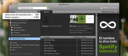 Spotify añade carpetas para la organización de listas y otras novedades