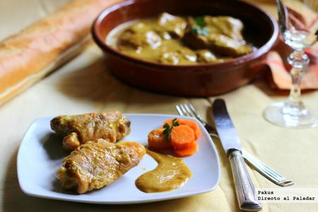 Contramuslos estofados con especias marroquíes. Receta