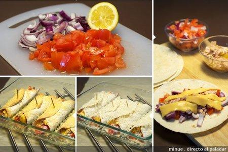 Enchiladas de atún - elaboración