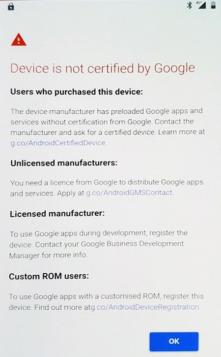 Google starts to block their apps on devices without a certify, with ...