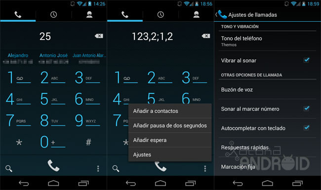 Llamadas en Android 4.3 (Jelly Bean)