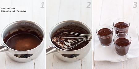 Petit de chocolate. Receta paso a paso
