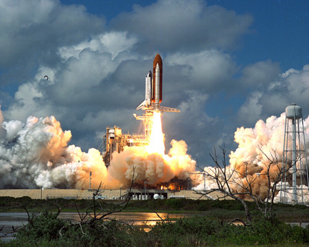 The Return To Flight Launch Of The Space Shuttle Discovery And Its Five Man Crew From Pad 39b At 1137 A M September 29 1988 As Discovery Embarked On A Four Day One Hour Mission