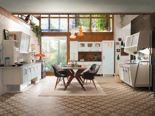 Viaja en el tiempo con esta cocina retro estilo a os 50 - Cocinas retro anos 50 ...
