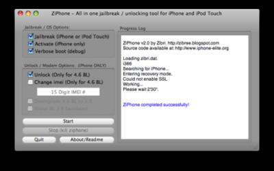 Nueva versión de ZiPhone para Mac OSX