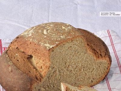 Pan de trigo y centeno integral con masa madre. Receta de panadería