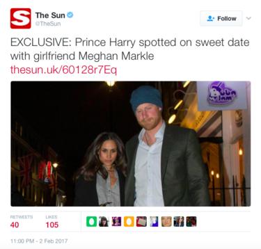 Y mientras tanto el Príncipe Harry y Meghan Markle hacen manitas por Londres
