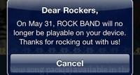 La versión para iOS de 'Rock Band' dejará de funcionar a partir del próximo 31 de mayo (actualizado)
