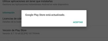 Cómo actualizar Google Play Store a la última versión