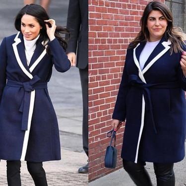 Esta blogger plus size está recreando los outfits de Meghan Markle en versión XL... ¡con 'príncipe Harry' incluido!