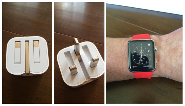 Folding Uk Plug And Red Apple Watch 800x460