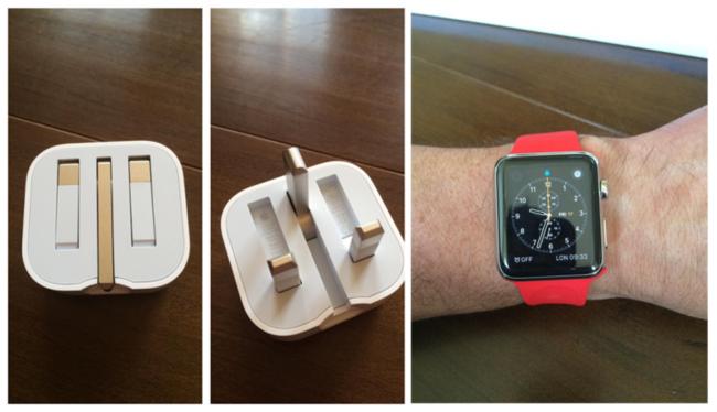 Folding Uk Plug And Red Apple Watch 800x460