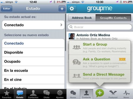 WhatsApp vs. GroupMe: las dos apuestas más fuertes de mensajería instantánea en el móvil, frente a frente