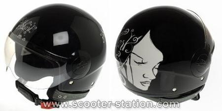Casco Jet SK Shark Gloomy Girl
