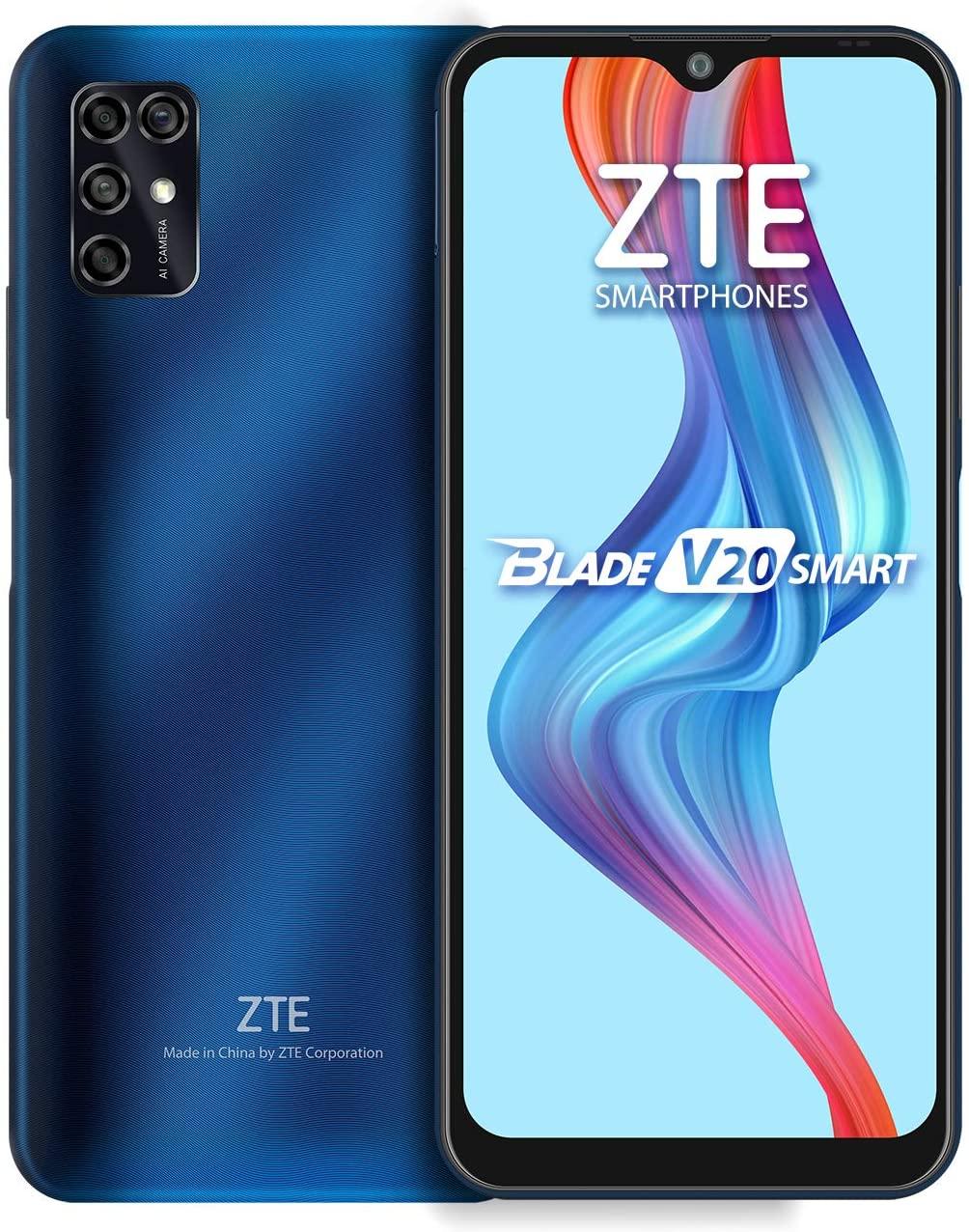 "ZTE Blade V20 Smart 128G 4G LTE Smartphone 6.82"" HD+ Azul Desbloqueado"