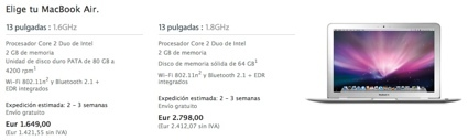 Comparativa MacBooks Air (HDD vs. SDD)