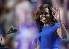 Todo el mundo recordará este vestido azul de Michelle Obama, su discurso increíble y el emotivo tuit de Barack