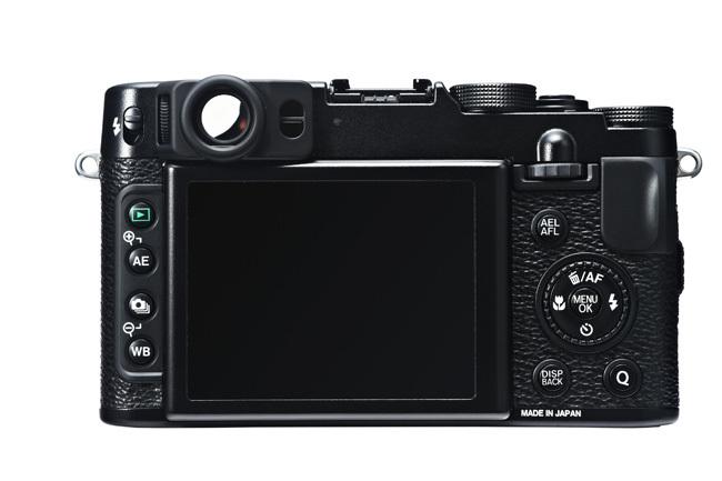Fujifilm X20 vista trasera