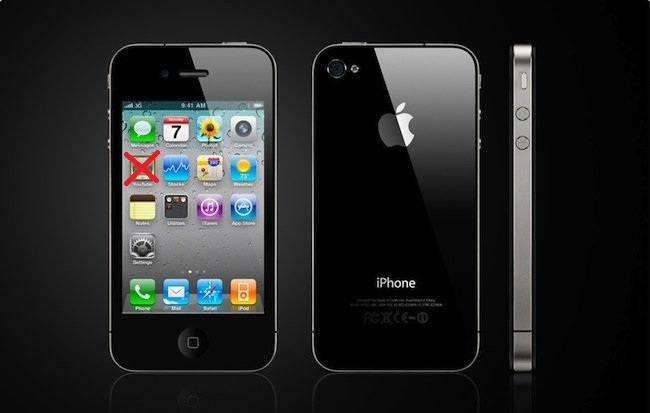 iPhone 4 sin YouTube