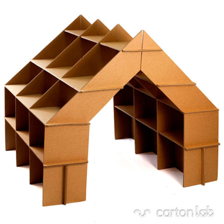 Casita Estanteria Carton Cartonlab