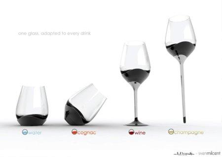 Un vaso para cada bebida, un vaso versátil