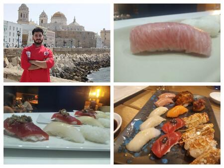 El Chef Alvaro Rivera Del Restaurante Yoko De Barbate Con Algunas Piezas De Los Nigiri Que Realiza En Su Restaurante De Cocina Creativa Con Tintes Orientales