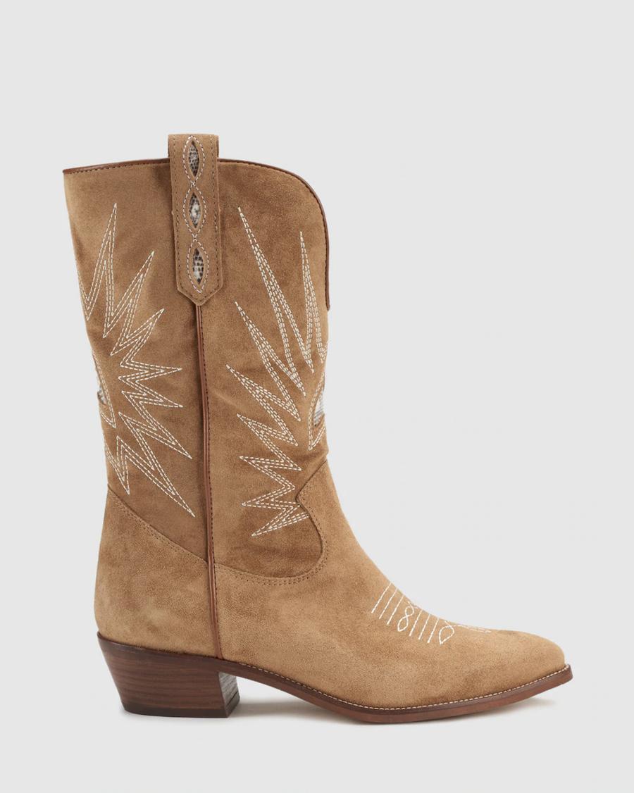 Botas de mujer Alpe de piel en color marrón