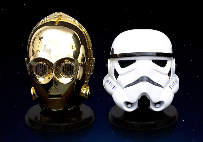 Star Wars Audio System Gold Plated C3po Stormtrooper Heads 08