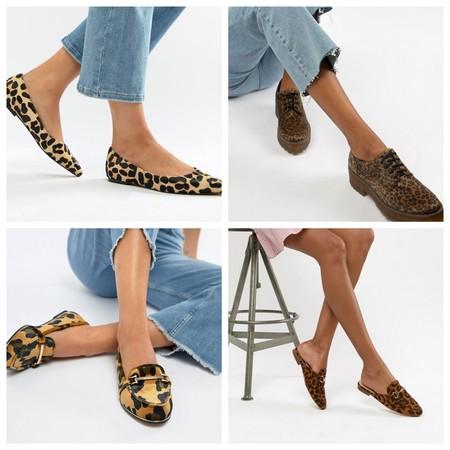 Zapatos Planos Print Animal