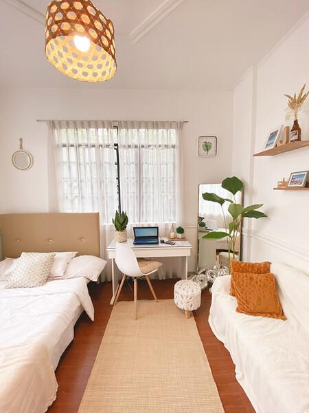 Antes y después: de anticuado dormitorio juvenil a habitación de matrimonio de estilo scandi