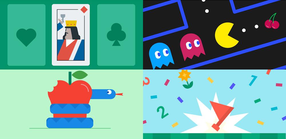Die sieben spiele integriert, von Google kommen, installiert auf ihrem Android-handy