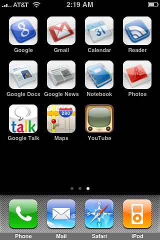 Google.com mejorado para el iPhone