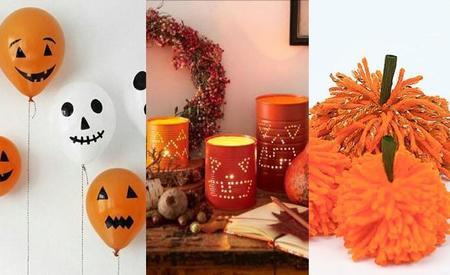 Globos, calabazas pompón, latas recicladas y más ideas decorativas DIY para Halloween