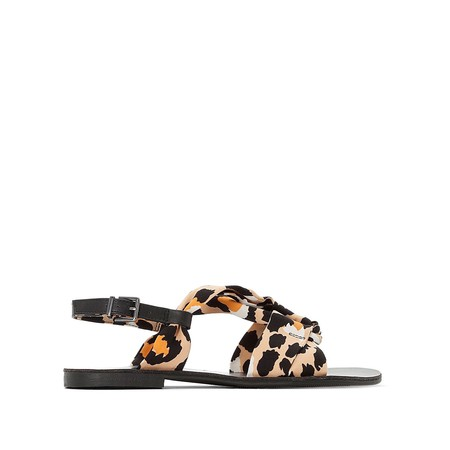 Sandalias Planas Leopardo