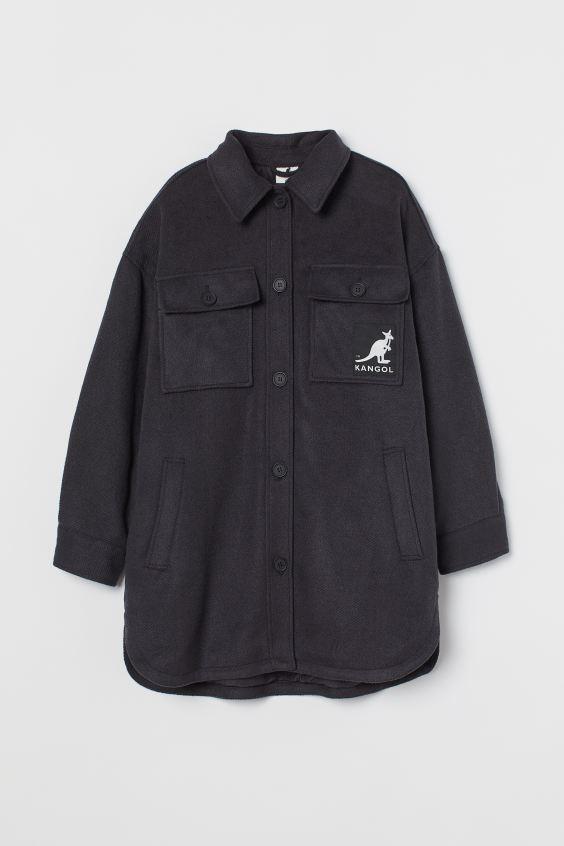 Chaqueta camisera oversize H&M KANGOL