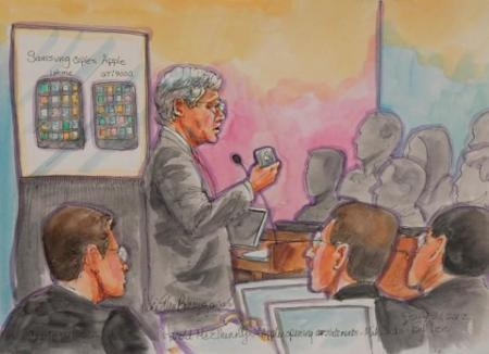 Boceto de un momento del juicio