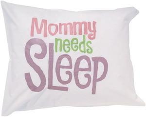 Mamá necesita dormir: un cojín que dice la verdad