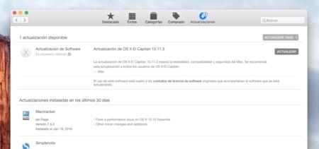 OS X El Capitan 10.11.3 ya disponible en la Mac App Store
