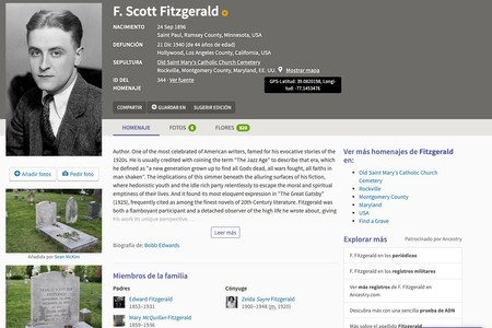 Window Y F Scott Fitzgerald 1896 1940 Homenaje De Find A Grave