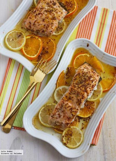 Salmón al horno con cítricos
