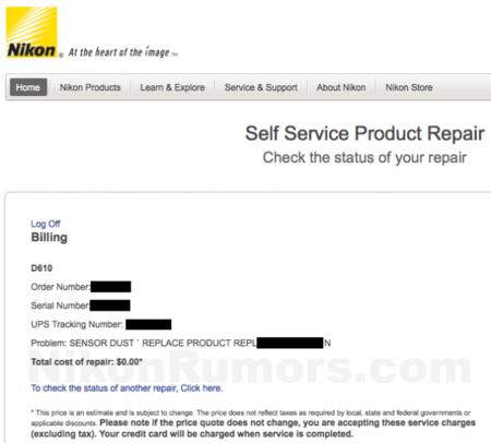 Nikon, en algunos casos, está reemplazando modelos defectuosos Nikon D600 con modelos Nikon D610