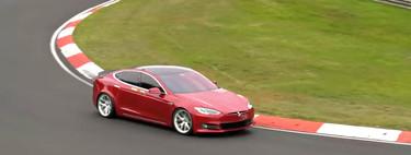 ¡Ahora sí! El Tesla Model S bate al Porsche Taycan como la berlina eléctrica más rápida en Nürburgring con 7:20 minutos
