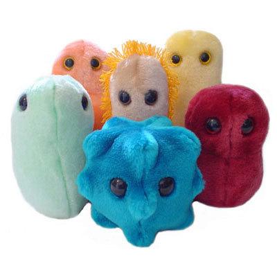 Peluches-microbios