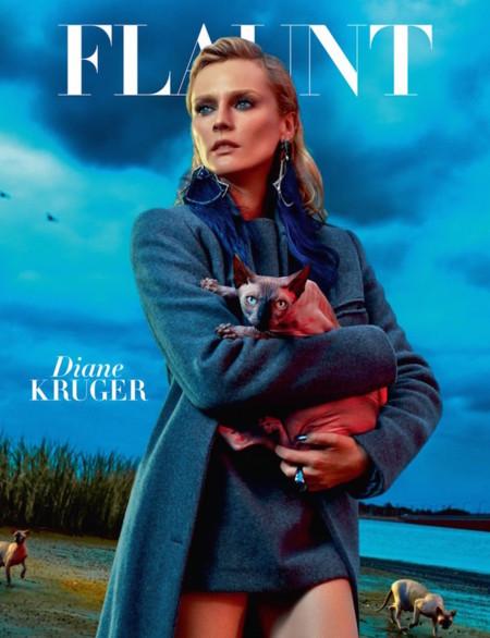 Diane Kruger Flaunt 2014 Cover