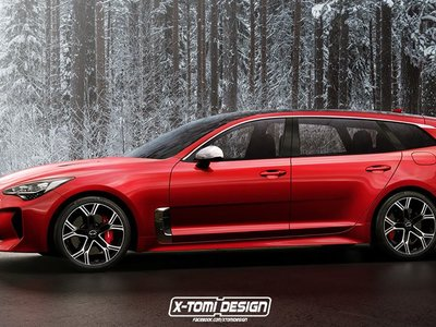 ¿Te gustó del KIA Stinger? Espera a ver cómo X-Tomi Design lo imagina en forma coupé y shooting brake