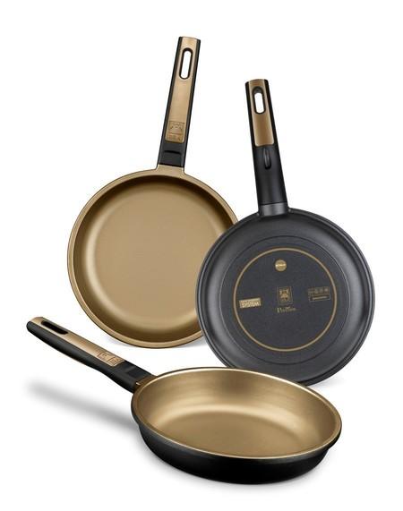 Set de 3 sartenes de aluminio fundido, ahora en Amazon por 37,99 euros ¡Sirven para todo tipo de cocinas!