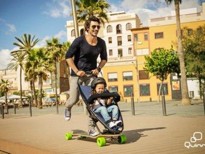 Lo que te faltaba para ser un papá hipster: este monopatín incorpora la sillita para tu hijo