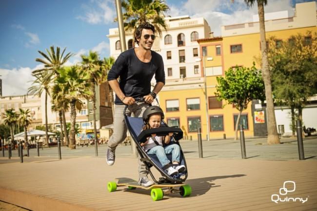 Longboardstroller skate con tu hijo