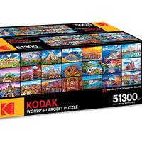 """El """"rompecabezas más grande del mundo"""" es de Kodak, tiene 51,300 piezas y mide casi nueve metros de largo"""